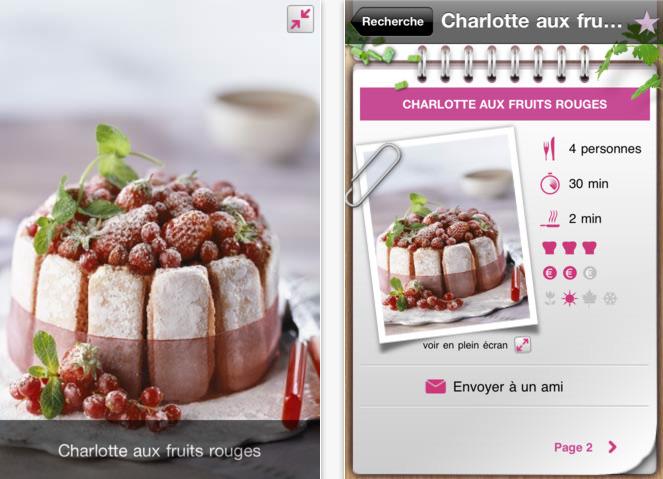 Plus de 1000 recettes dans les apps iphone gourmandes gratuites auj sur 7 euros d - Recette cuisine gratuite ...